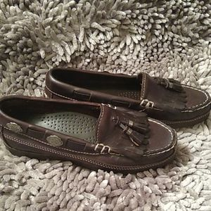 Dexter brown flat leather moccasins 6 M